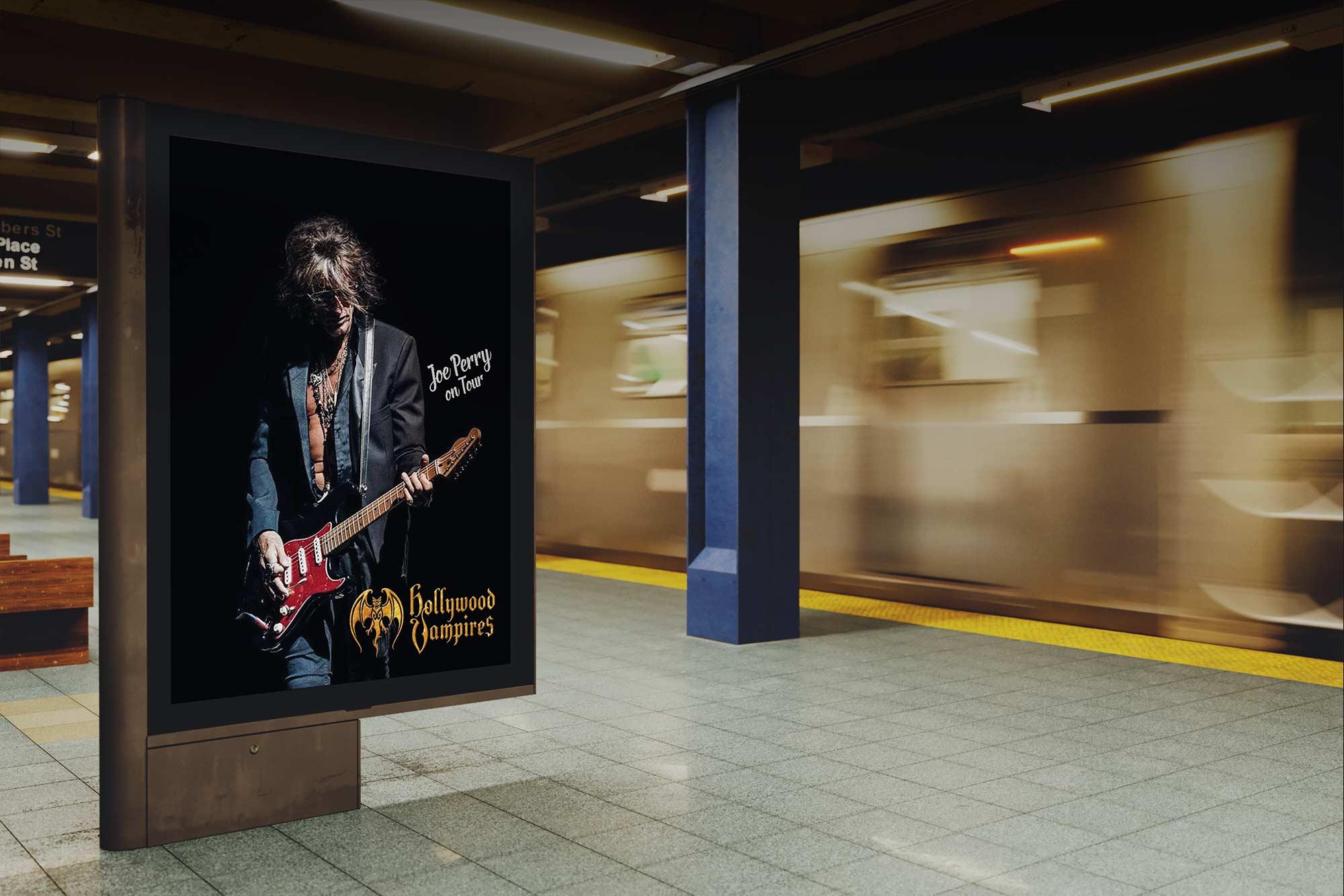 Joe Perry Back Lite Subway Poster
